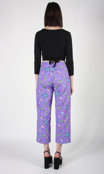 Tiecel Pant - Purple Pineapple Party