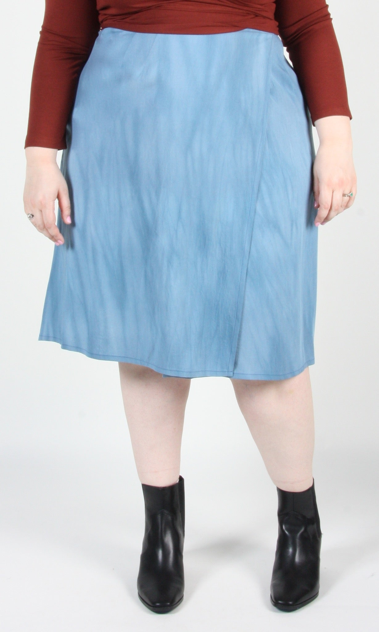 Tournepierre Skirt - Sand Washed Blue