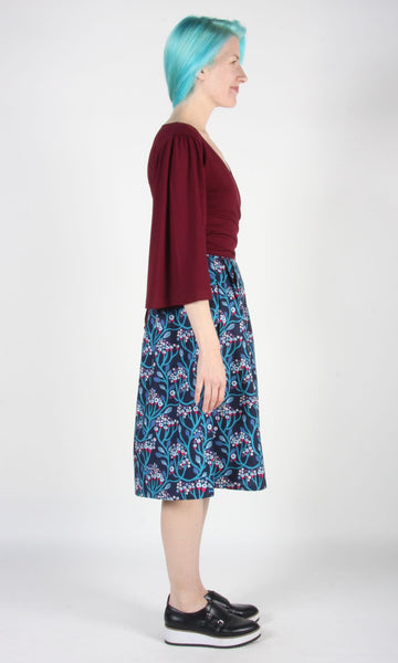 Treehunter Top - Burgundy