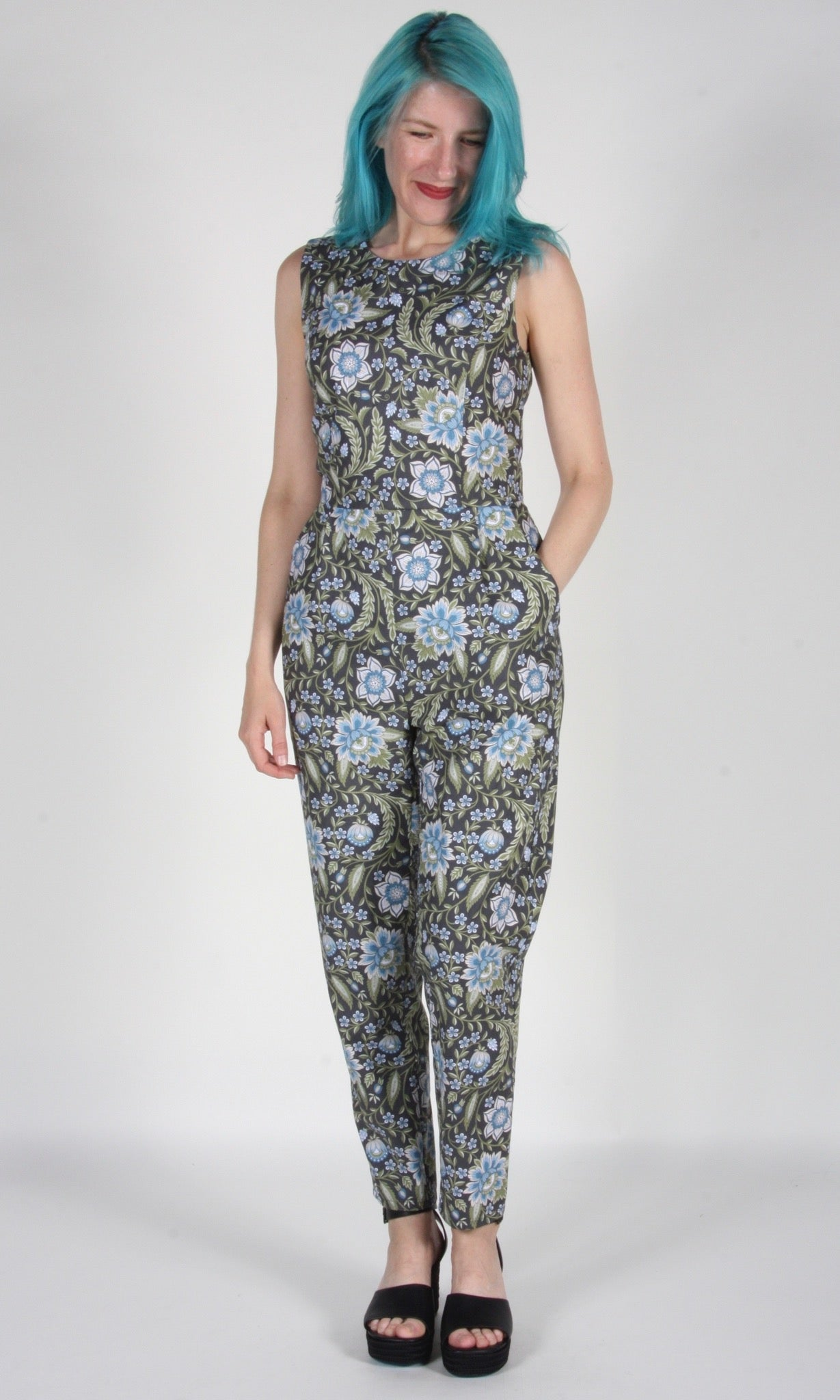 Treerunner Jumpsuit - Grey Botanical