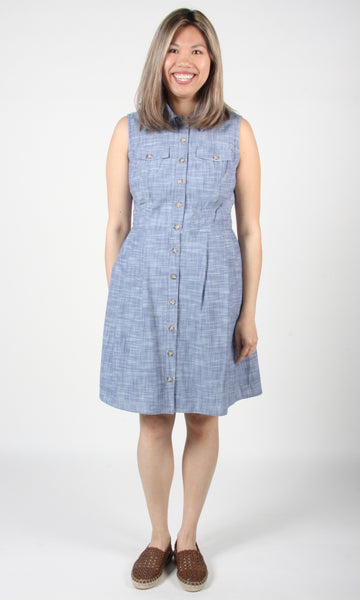 Vanneau Dress - Blue Chambray