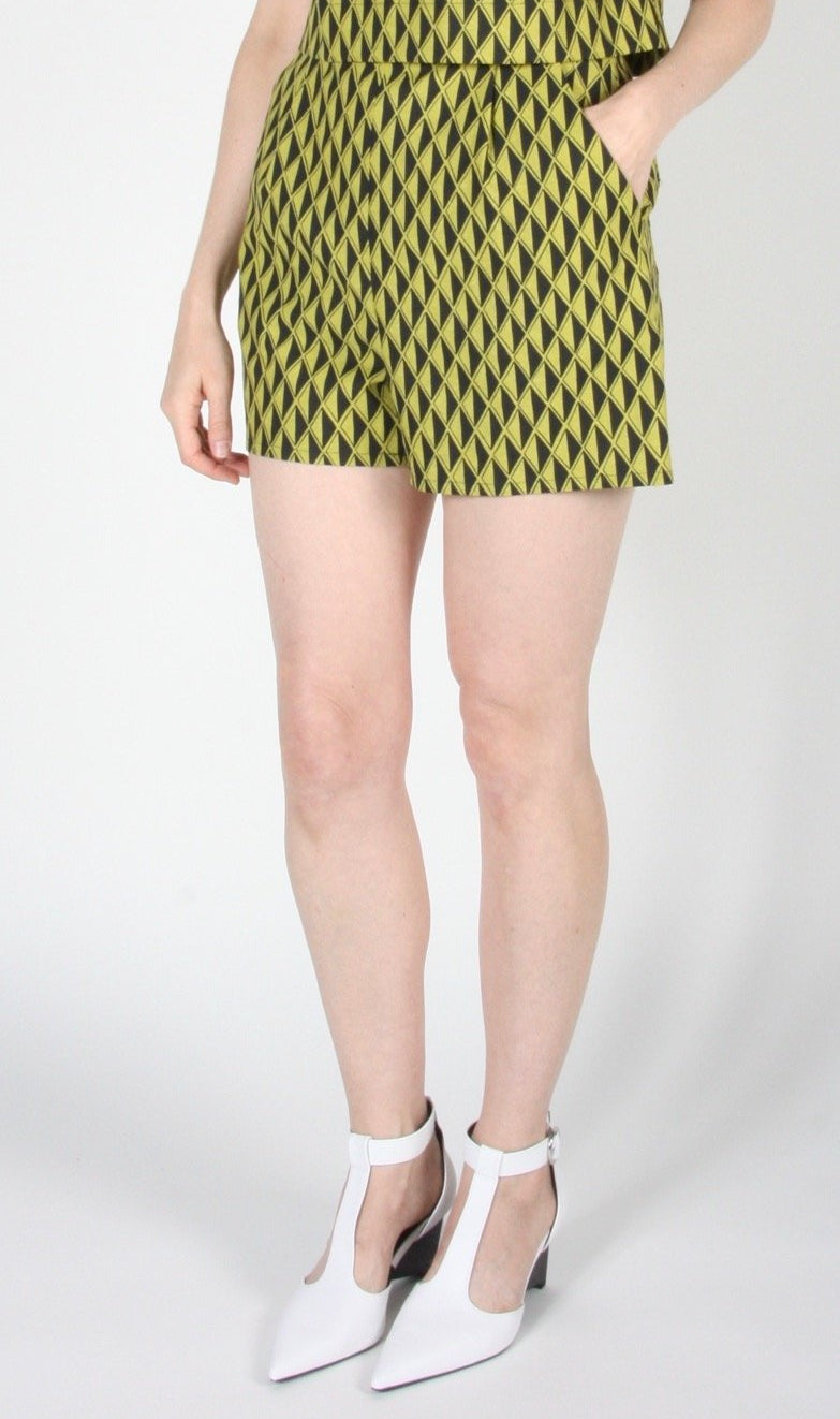 Umbrellabird Short - Spring Geometric