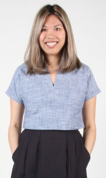 Whimbrel Top - Blue Chambray