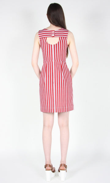 Whydah Dress - Red Stripe