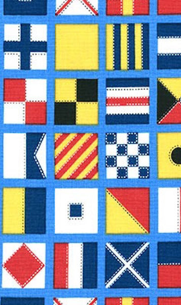 Bouvreuil Dress - Regatta Flags