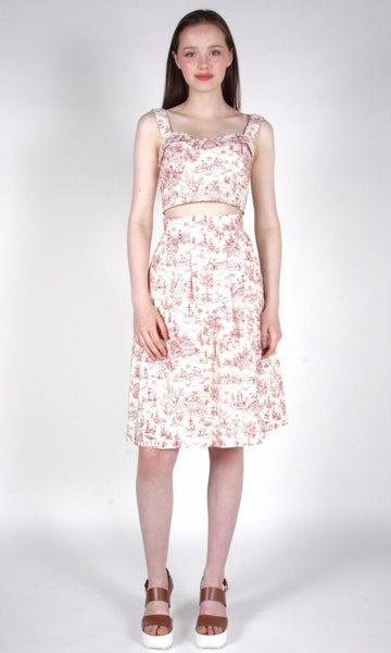 Twinspot Top - Rose Toile