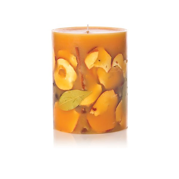 "SPICY APPLE 5""ROUND BOTANICAL CANDLES"