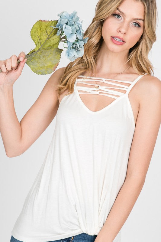 Karen - Criss Cross Sleeveless top