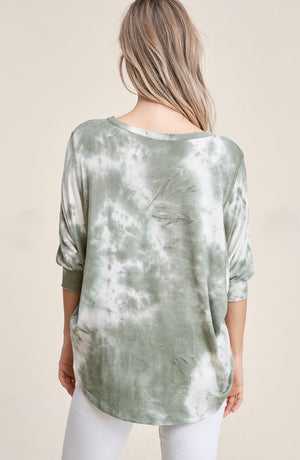Sandra - Green Tie Dye Top