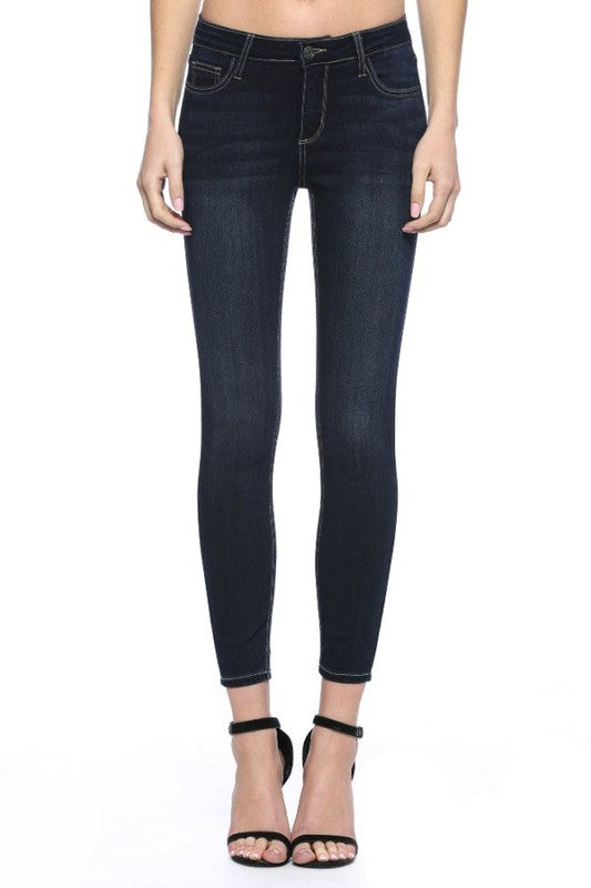 Cello Dark Mid-Rise Jeans