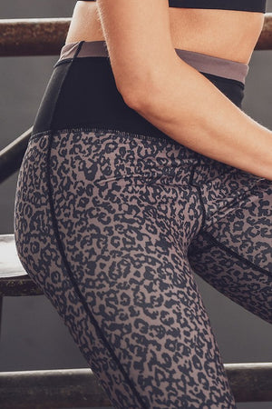 Leopard Print Athletic Leggings
