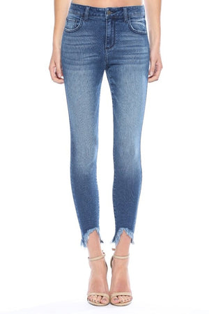 Cello Mid-Rise Crop Skinny Jeans