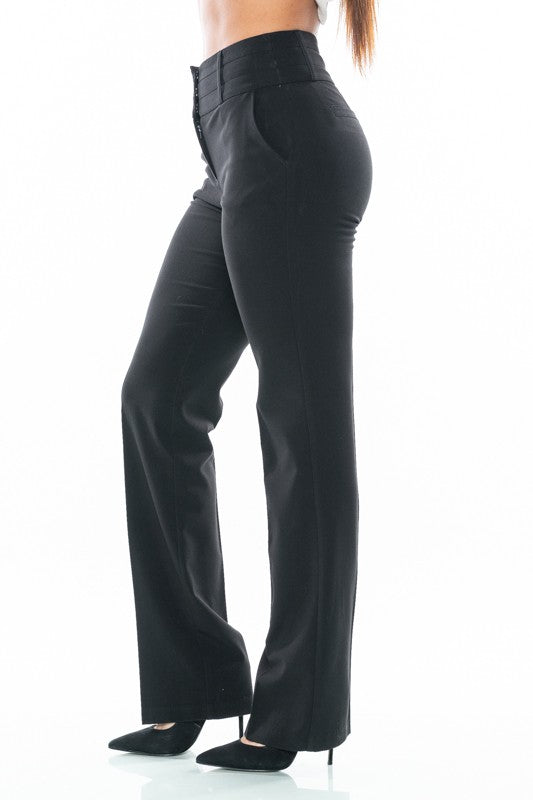 Black Mid-Rise Bottoms