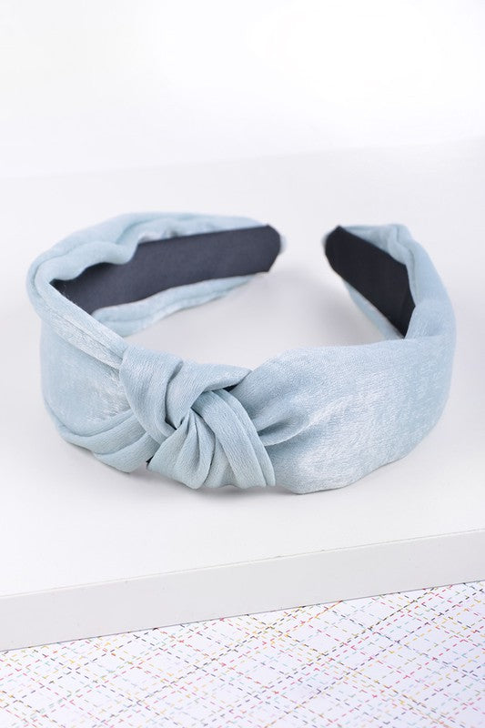 Mint Knotted Headband