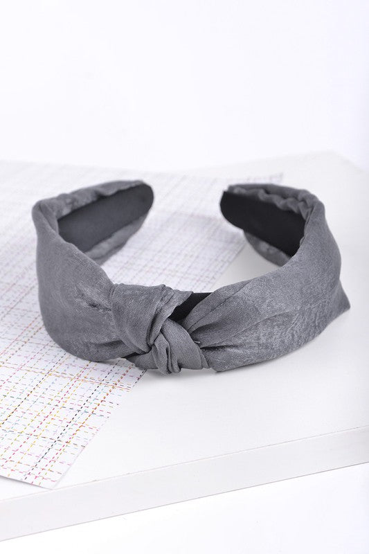 Grey Knotted Headband