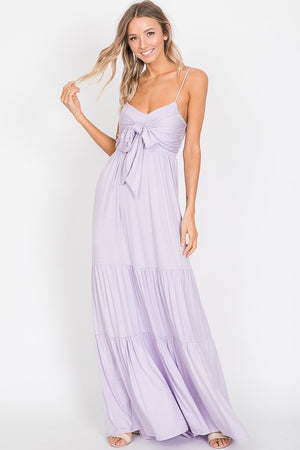 Ani- Lilac Sleeveless Maxi Dress