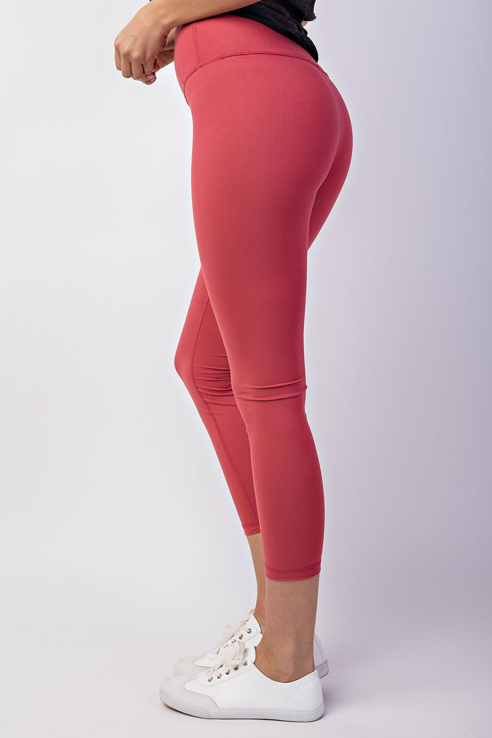 Buttery Soft Capri Yoga Legging-Coral