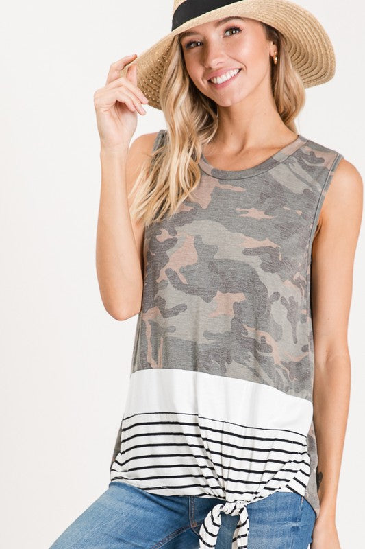 Camo Color Block Tank
