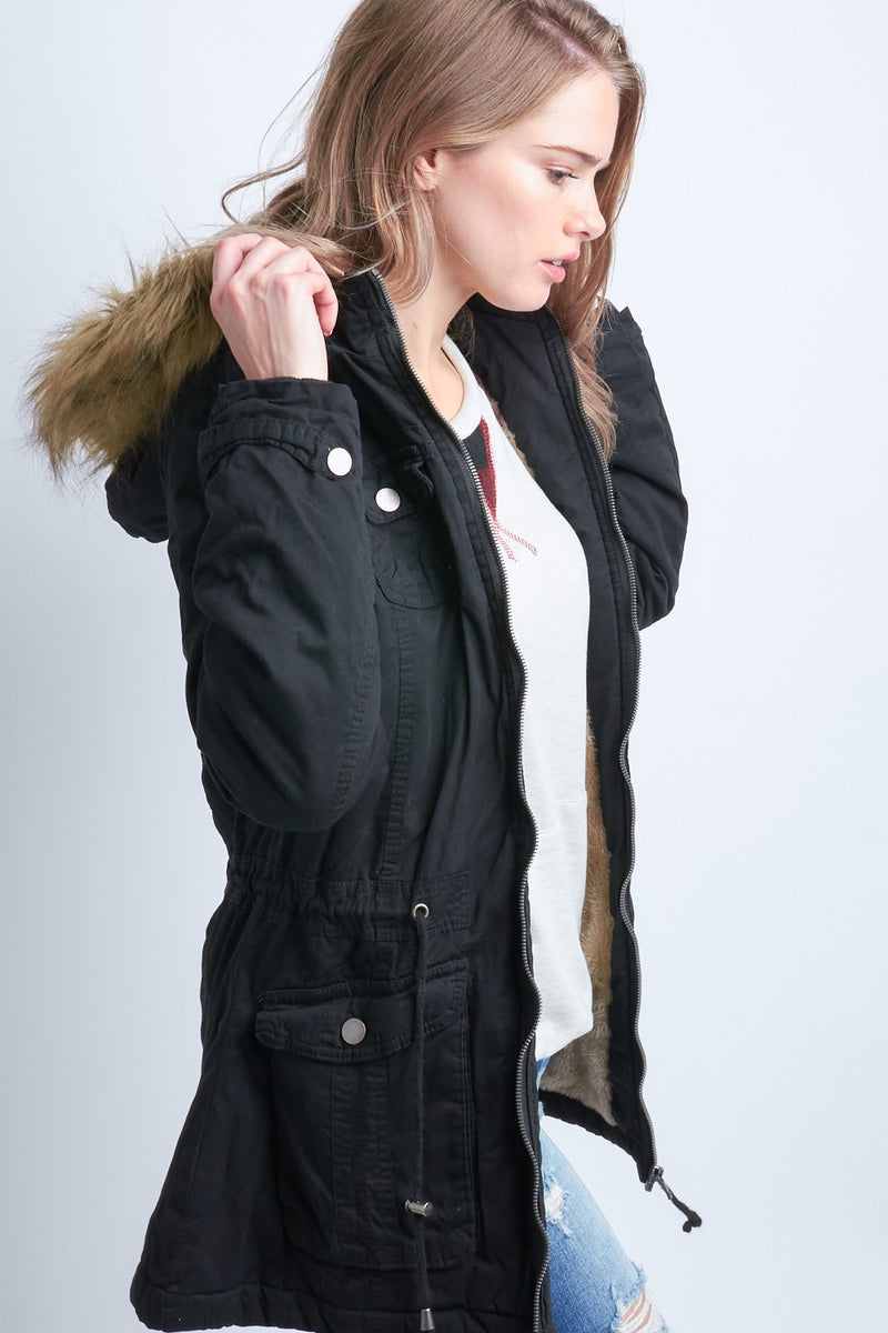 Fur Lined Jacket- TWO colors