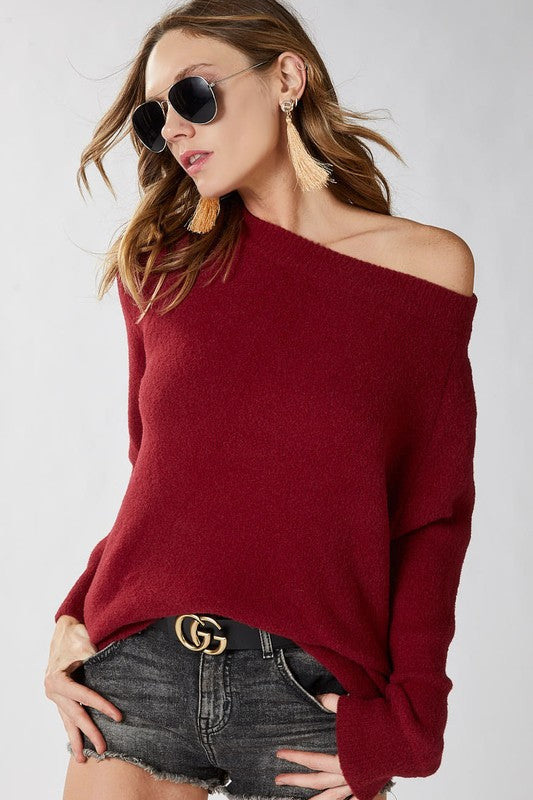 Favorite Cozy Sweater- Burgundy