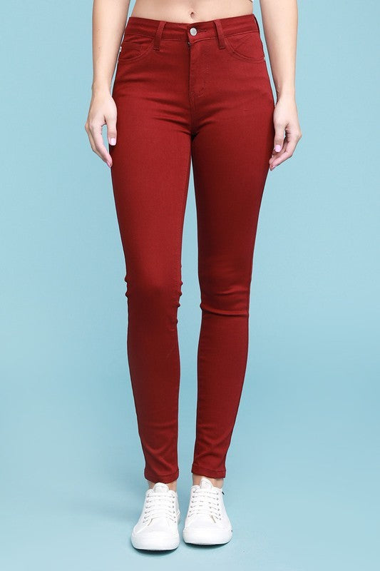 Maroon Judy Blue Denim