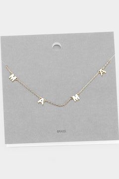 *BFDB* Mama Letter Necklace- Two Colors