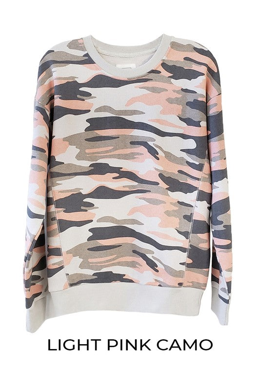 Light Pink Camo Sweatshirt