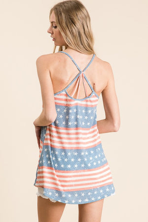 Stars and Stripes Criss Cross Tank