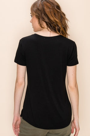 Favorite Basic Pocket Tee-Black