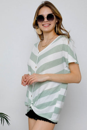 Lex-Cashmere Soft V-Neck Top