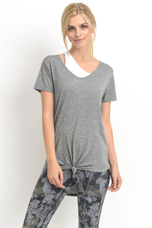 Charcoal Casual Lightweight Tee