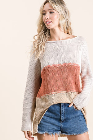 Fall Color Block Sweater