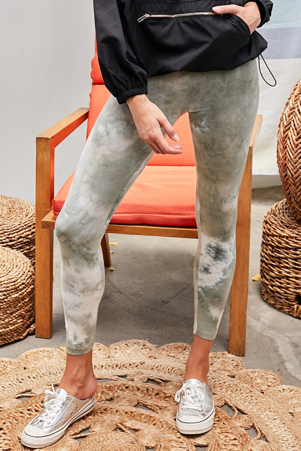 Light Olive Tie Dye Leggings