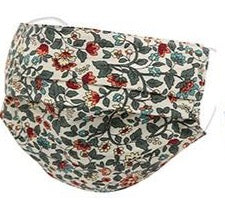 Adults- Beige Green Floral Face Covering