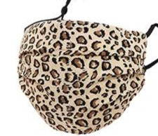 Adults- Beige Leopard Face Covering