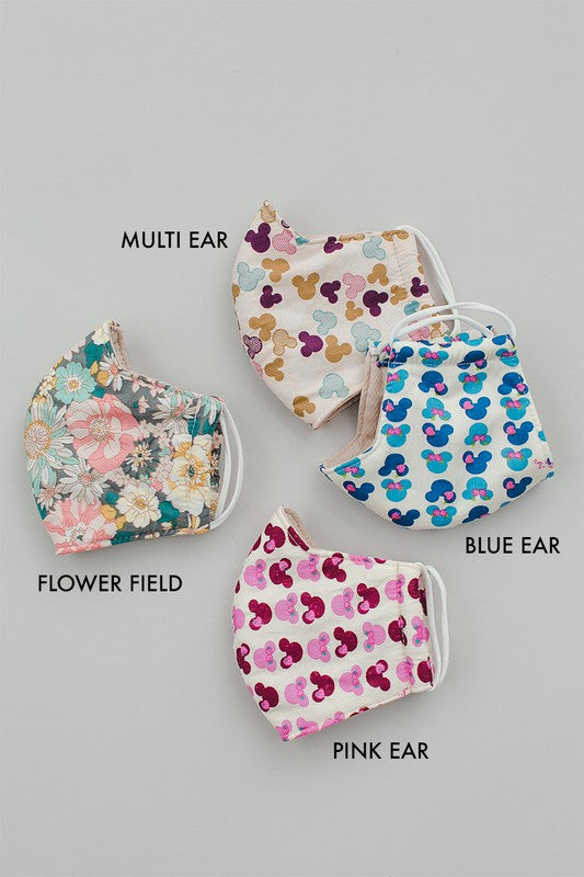 Multi Ear Print Face Covering- Not Medical for Use