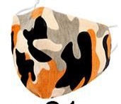 Kids- Orange Camo Face Covering