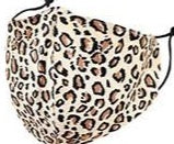 Kids- Beige Leopard Face Covering