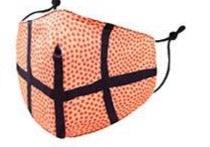 Kids- Basketball Print Face Covering