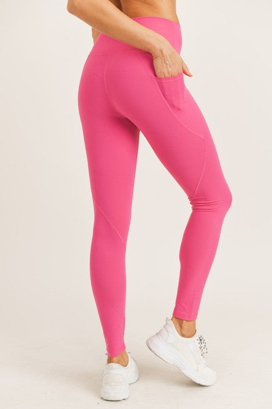 Fuchsia Athletic Leggings