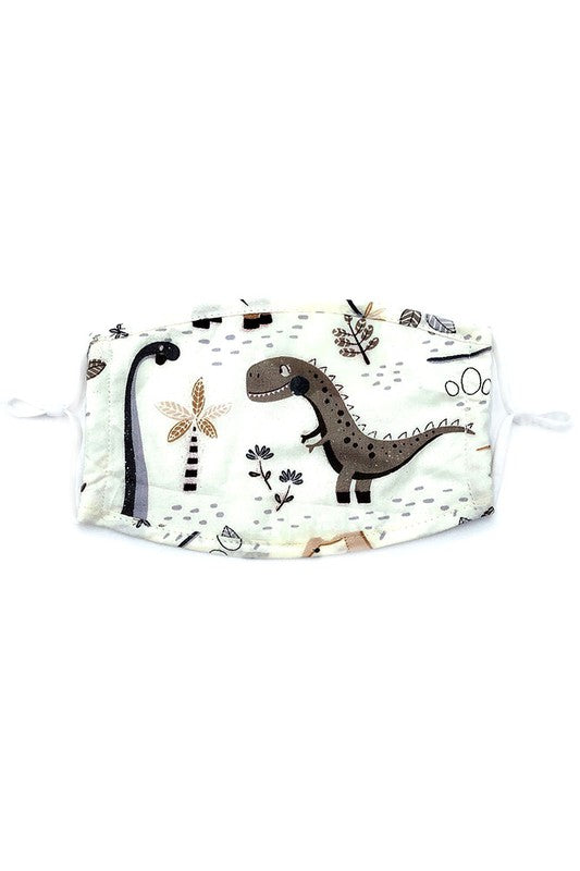 Kids- Dinosaurs Print Face Covering