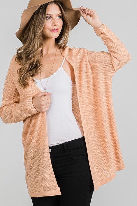Favorite Knitted Cardigan- Apricot