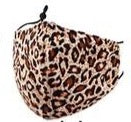 Adults- Brown Leopard Face Covering
