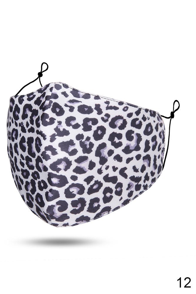 Adults- Snow Leopard 2 Print Face Covering