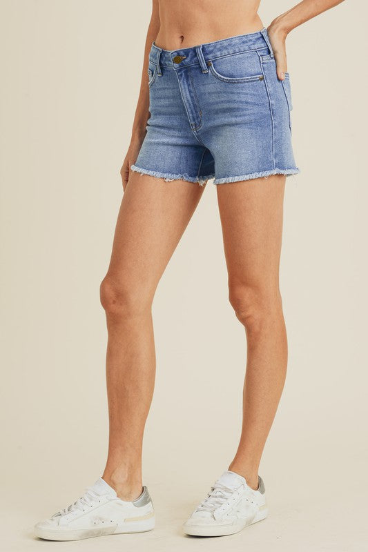 Just USA High Rise Clean Cut Shorts