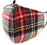 Adults- Plaid Print Face Covering