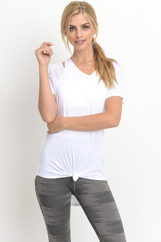 White Casual Lightweight Tee