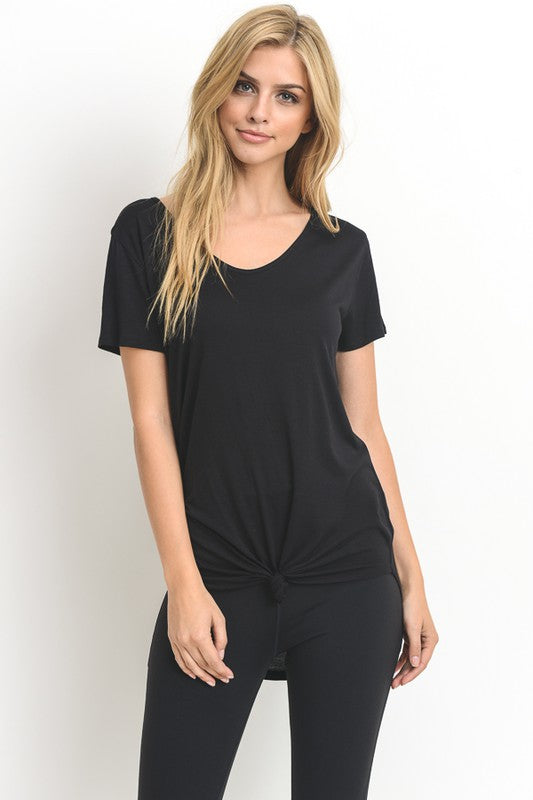 Black Casual Lightweight Tee