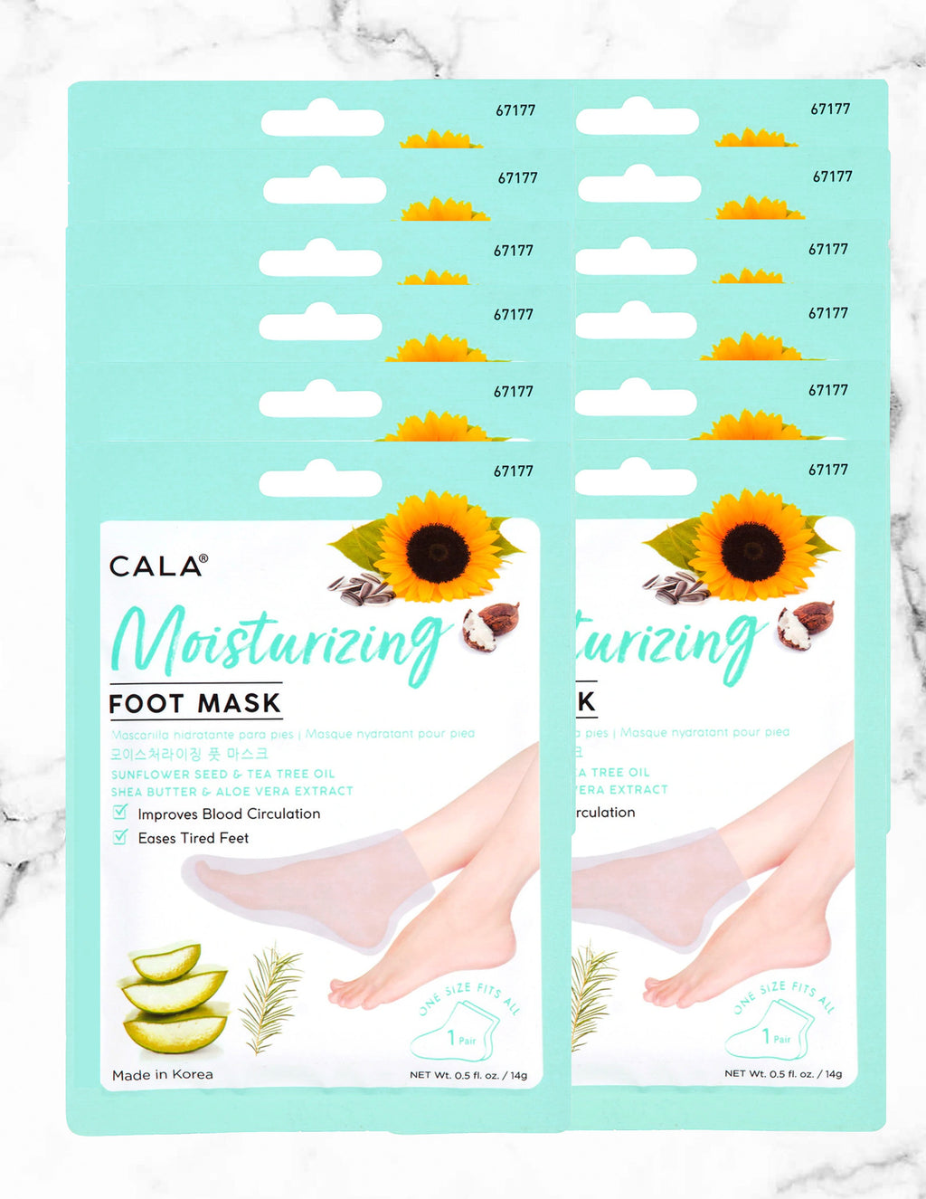 CALA  MOISTURIZING FOOT MASKS