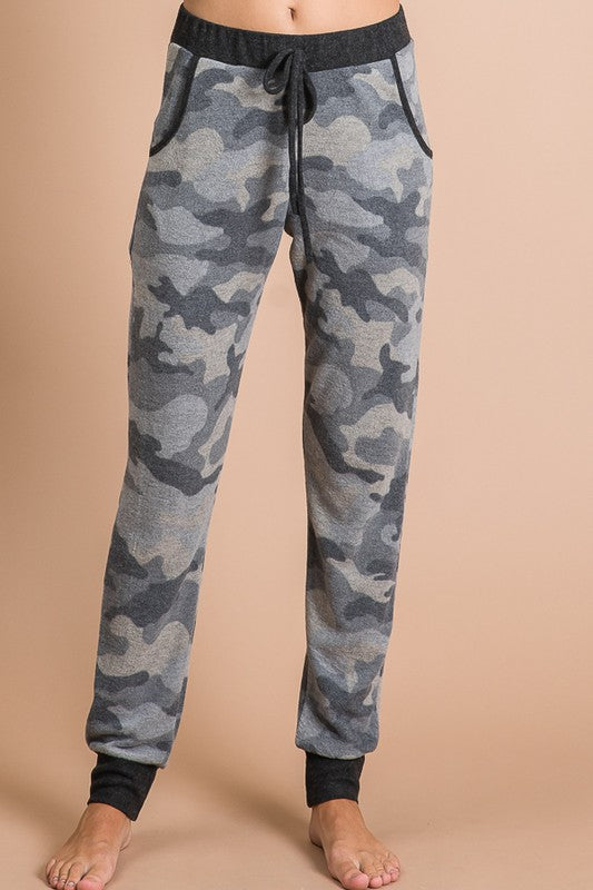 Super Cozy Grey Camo Joggers